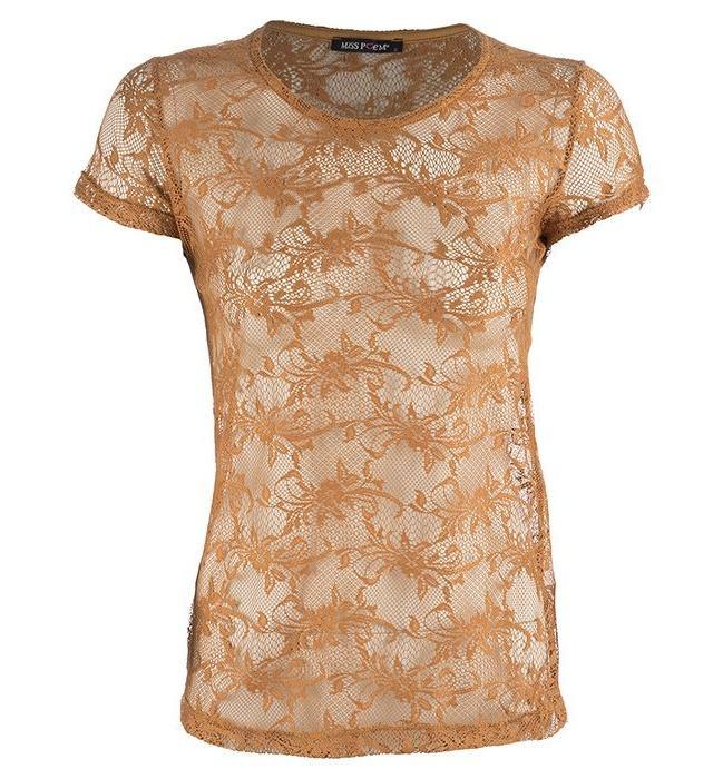 تی شرت میس پوئم مدل دانتل کارامل