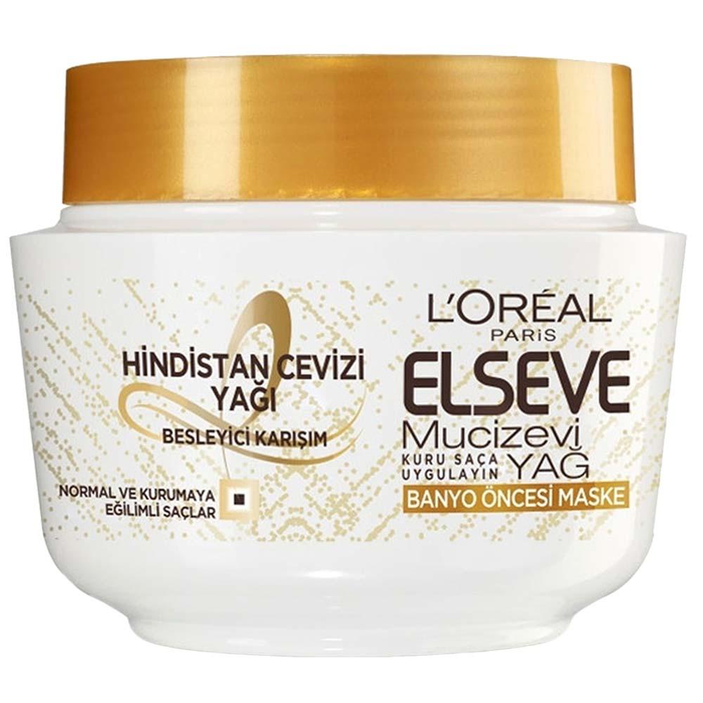 ماسک موی داخل حمام لورآل مدل Elseve Hindustan cevizi حجم ۳۰۰ میلی لیتر