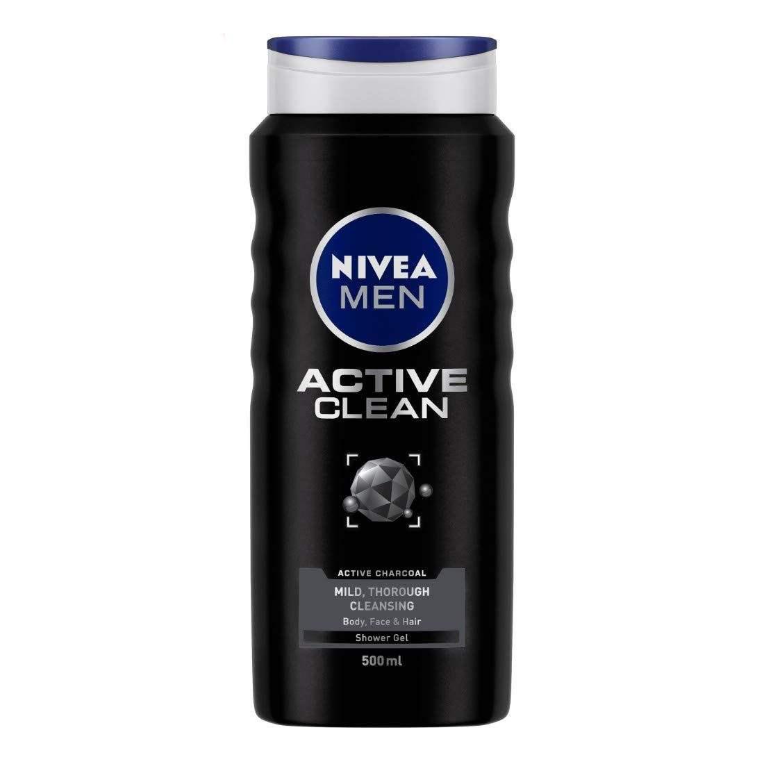 شامپو مو و بدن نیوآ مدل Active Clean حجم ۵۰۰ میلی لیتر