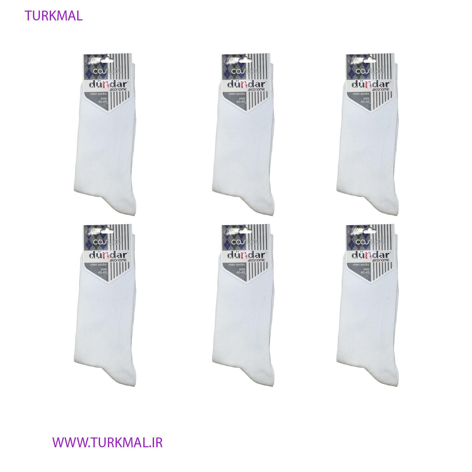 جوراب مردانه دوندار مدل TRY-341 بسته ۶ عددی