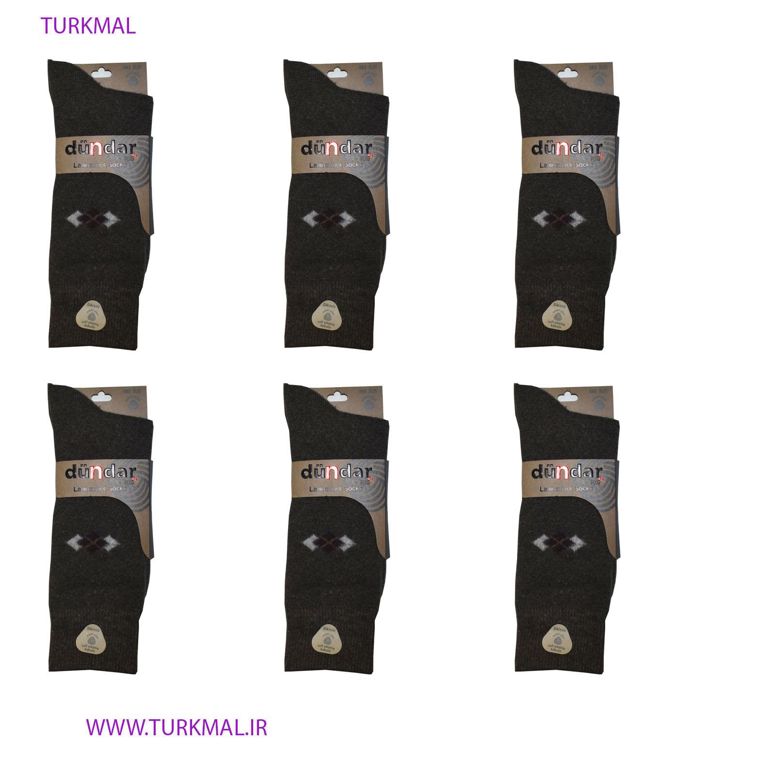 جوراب مردانه دوندار مدل پشمی بسته ۶ عددی