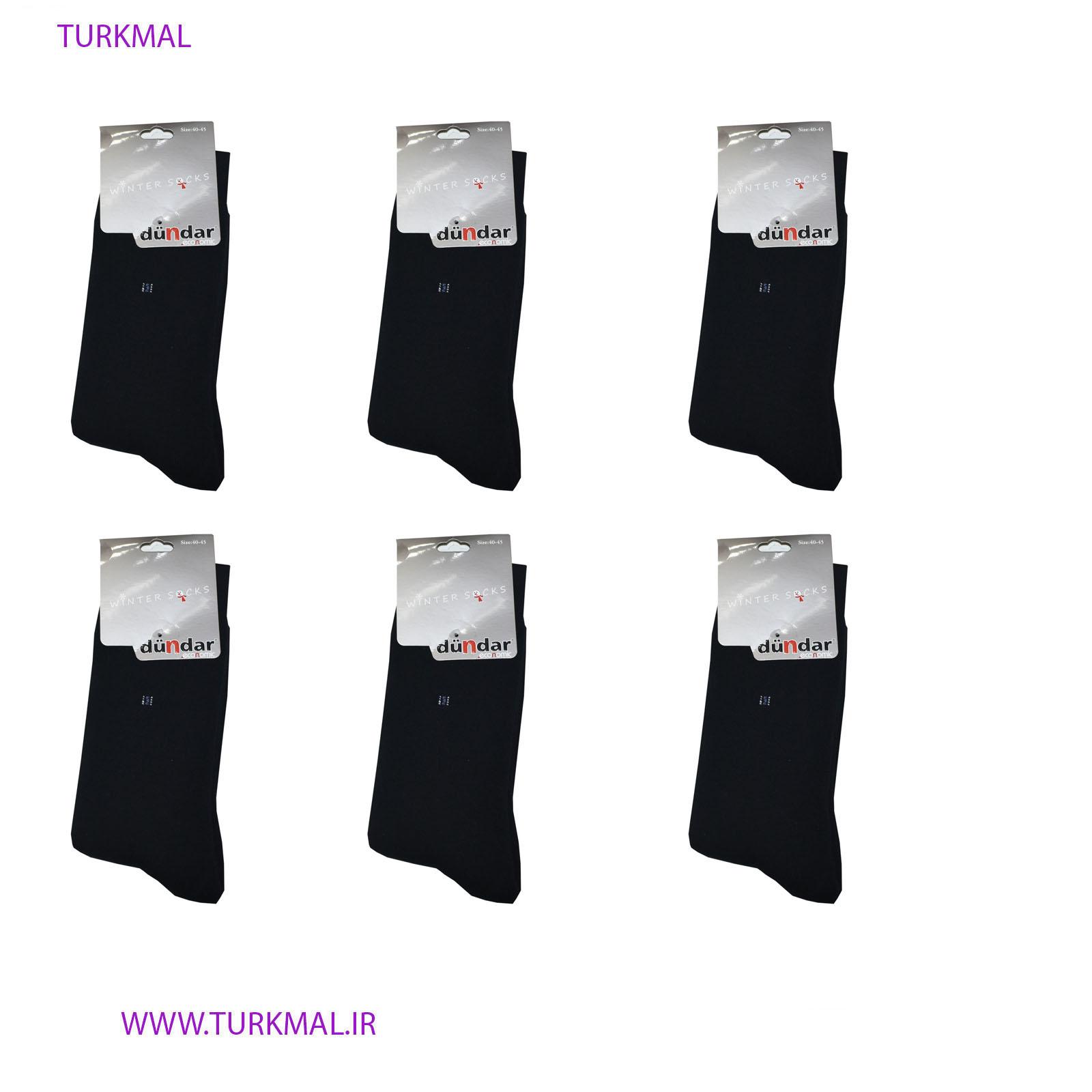 جوراب زنانه دوندار مدل پشمی بسته ۶ عددی