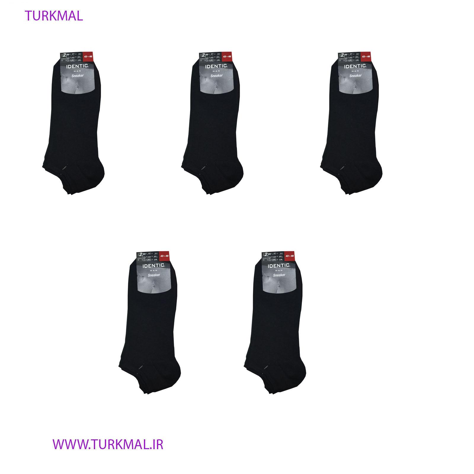 جوراب مردانه ایدنتیک بسته ۵ عددی