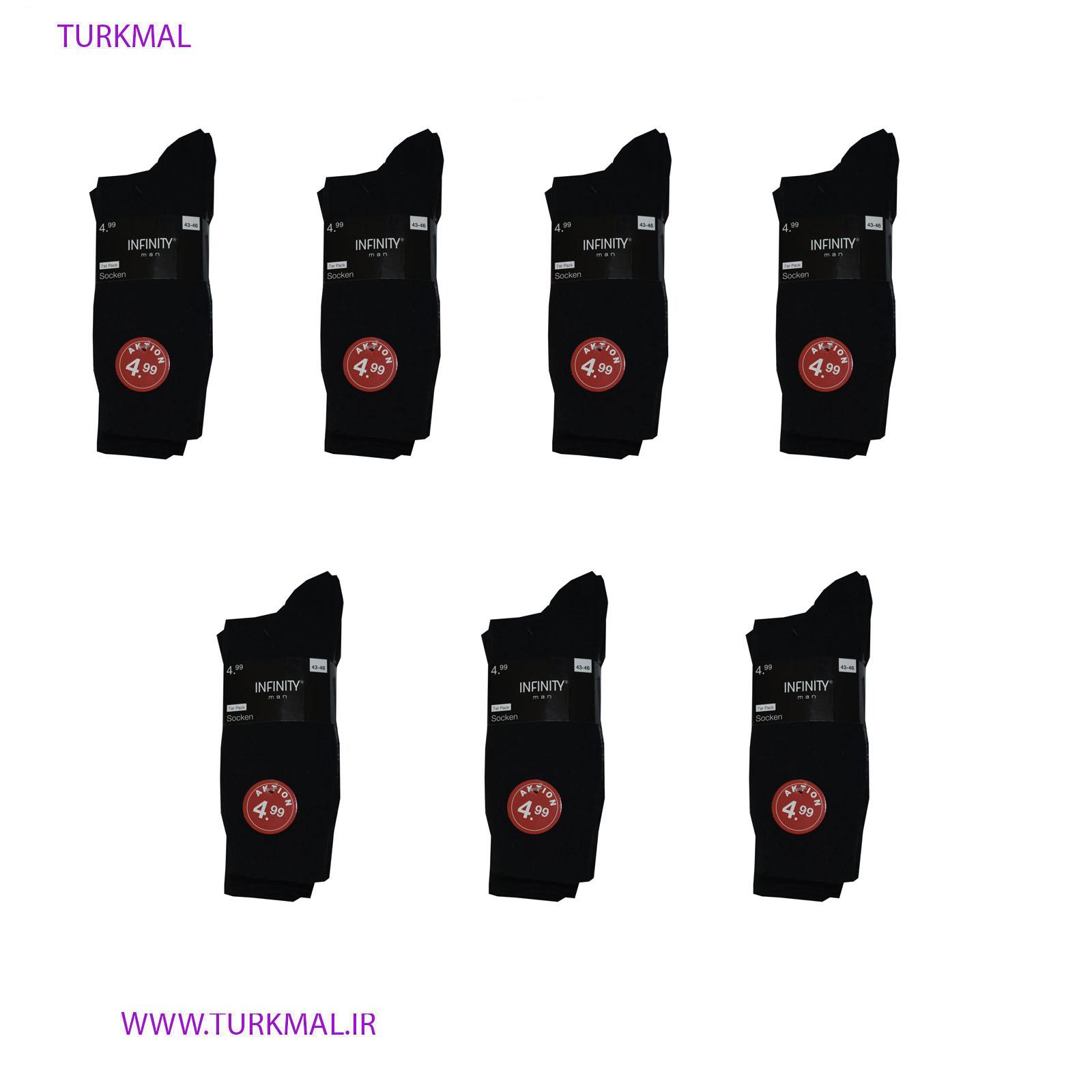 جوراب مردانه اینفنتی مدل FRR-123 بسته ۷عددی