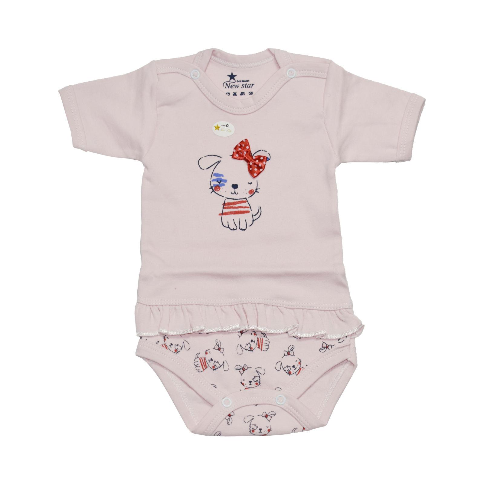 بادی آستین کوتاه نوزادی کد ۶۵۳۴
