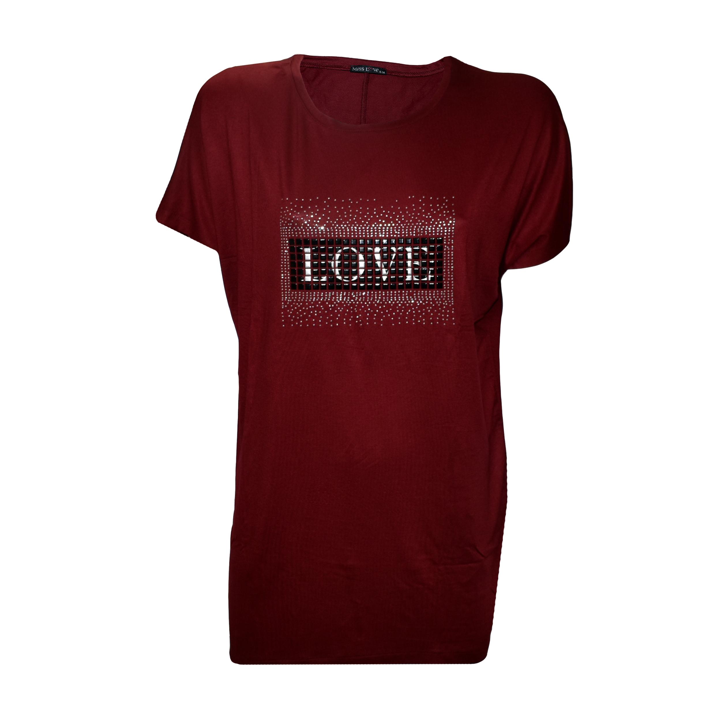تی شرت زنانه میس لاو کد ۵۵۵